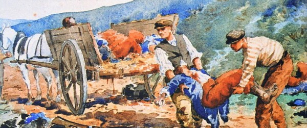 Nestor Outer, Watercolour After the battle