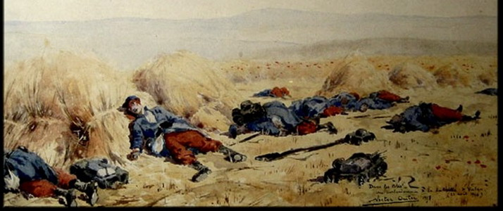 Nestor Outer, two days after the battle, Nestor Outer © Musée Gaumais